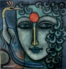 Advaitha 9 | Mixed_media by artist Krishna Ashok | Canvas