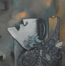 Untitled 16 | Mixed_media by artist Krishna Ashok | Canvas