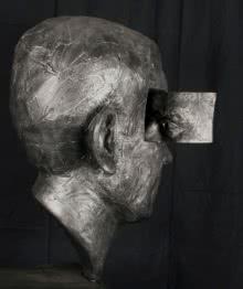 Fiberglass Sculpture titled 'Atma Parichay' by artist Sagar Rampure