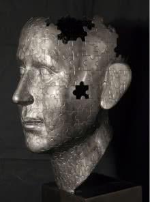 Fiberglass Sculpture titled 'Puzzle' by artist Sagar Rampure