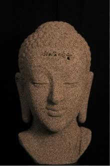 Fiberglass Sculpture titled 'Sand Buddha' by artist Sagar Rampure
