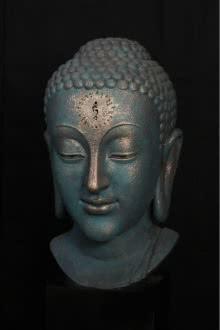 Fiberglass Sculpture titled 'White Tara Mantra' by artist Sagar Rampure