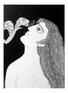 Figurative Pen-ink Art Drawing title 'Drawing Ii' by artist Sambuddha Gupta