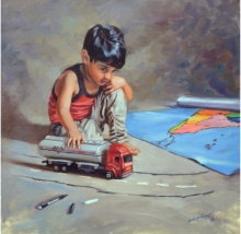 Figurative Oil Art Painting title 'Dream' by artist Swapnil Patil