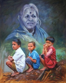 Figurative Oil Art Painting title 'Sindhu' by artist Swapnil Patil