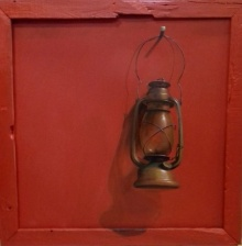 Still-life Acrylic Art Painting title 'Lamp' by artist Gopal Pardeshi