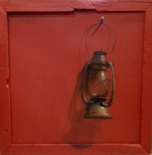 art, painting, canvas, acrylic, original, still life, lamp