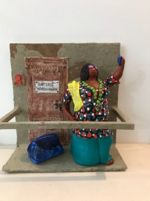 Paper Mache Sculpture titled 'Kholi No 38' by artist Bharati Pitre