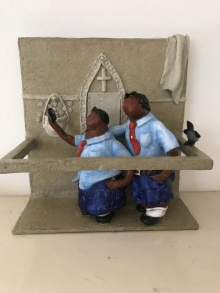 Paper Mache Sculpture titled 'Kholi No 39' by artist Bharati Pitre
