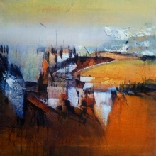 Dnyaneshwar Dhavale | Acrylic Painting title Reflection on canvas | Artist Dnyaneshwar Dhavale Gallery | ArtZolo.com