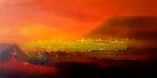 Dnyaneshwar Dhavale | Acrylic Painting title Mid Night on Canvas | Artist Dnyaneshwar Dhavale Gallery | ArtZolo.com