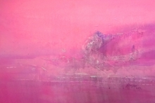 Dnyaneshwar Dhavale | Acrylic Painting title Pink on Acrylic on canvas
