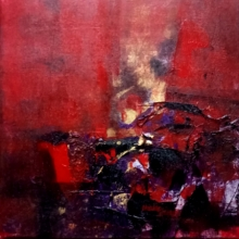 Abstract Acrylic Art Painting title Untitled by artist Dnyaneshwar Dhavale