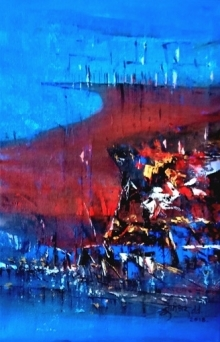Untitled- | Painting by artist Dnyaneshwar Dhavale | acrylic | Canvas