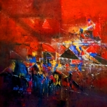 Untitled | Painting by artist Dnyaneshwar Dhavale | acrylic | Canvas