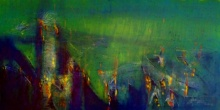 Dnyaneshwar Dhavale | Acrylic Painting title Untitled 24 X 48 In 13 on canvas | Artist Dnyaneshwar Dhavale Gallery | ArtZolo.com