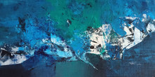 Abstract Acrylic Art Painting title Deep down by artist Dnyaneshwar Dhavale