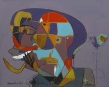 Figurative Acrylic Art Painting title 101 by artist Shambhu Prasad Reddy Kolli