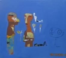 Figurative Acrylic Art Painting title 105 by artist Shambhu Prasad Reddy Kolli