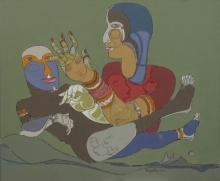 Fantasy Acrylic Art Painting title 120 by artist Shambhu Prasad Reddy Kolli