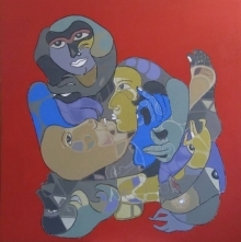 Figurative Acrylic Art Painting title '125' by artist Shambhu Prasad Reddy Kolli