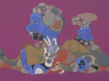 contemporary Acrylic Art Painting title 128 by artist Shambhu Prasad Reddy Kolli
