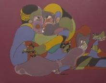 contemporary Acrylic Art Painting title 129 36x48 Inches Acrylic On Canvas by artist Shambhu Prasad Reddy Kolli