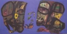 Figurative Acrylic Art Painting title Titled by artist Shambhu Prasad Reddy Kolli