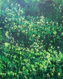 Deep Forest | Painting by artist Kaukab Ahmad | acrylic | Canvas Board