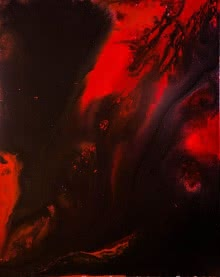 Abstract Acrylic Art Painting title 'Fire 2' by artist Kartikey Sharma