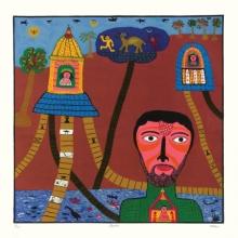 Figurative Serigraphs Art Painting title Bhakta by artist Madhvi Parekh