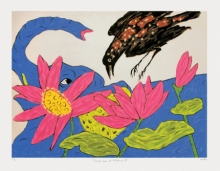 contemporary Serigraphs Art Painting title Cuckoo Crow At Nathdwara 2 by artist Amit Ambalal
