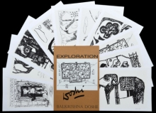 contemporary Serigraphs Art Painting title 'Exploration' by artist B. V. Doshi