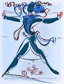 Religious Serigraphs Art Painting title Jatadharaya by artist Jatin Das