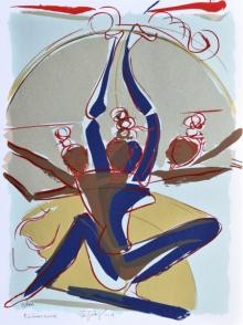 Religious Serigraphs Art Painting title Kailasa Vasine by artist Jatin Das