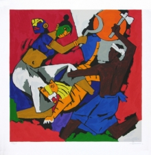 Figurative Serigraphs Art Painting title 'Kerala 2' by artist M. F. Husain