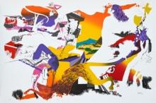 contemporary Serigraphs Art Painting title Kiss by artist Nabibakhsh Mansoori