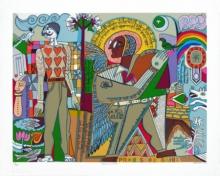 contemporary Serigraphs Art Painting title Myself As An Artist by artist Jyoti Bhatt