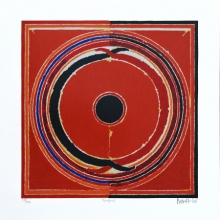 Abstract Serigraphs Art Painting title Nagas by artist S. H. Raza