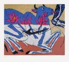 contemporary Serigraphs Art Painting title Nandi Cure by artist Amit Ambalal