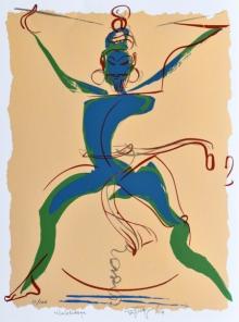 Religious Serigraphs Art Painting title Nilalohitaya by artist Jatin Das