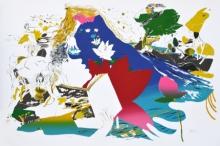 contemporary Serigraphs Art Painting title Pamper by artist Nabibakhsh Mansoori