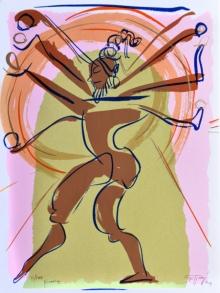 Religious Serigraphs Art Painting title Pinakine by artist Jatin Das