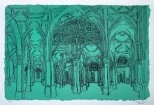 Religious Serigraphs Art Painting title Sidi Saiyyed Mosque by artist Vrindavan Solanki