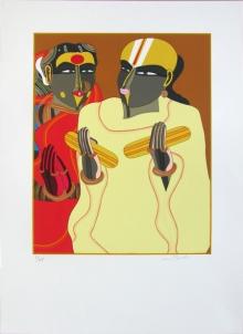 Figurative Serigraphs Art Painting title Untitled 2 by artist Thota Vaikuntam