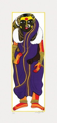Figurative Serigraphs Art Painting title Untitled 3 by artist Thota Vaikuntam