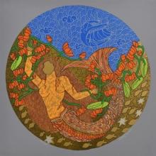 contemporary Serigraphs Art Painting title Untitled 4 by artist Seema Kohli