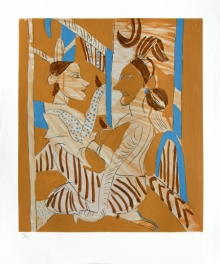 Figurative Serigraphs Art Painting title Untitled 5 by artist K. G. Subramanyan