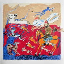 contemporary Serigraphs Art Painting title Untitled by artist Amit Ambalal