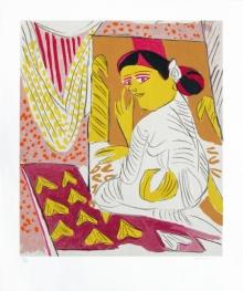 Figurative Serigraphs Art Painting title 'Untitled 9' by artist K. G. Subramanyan